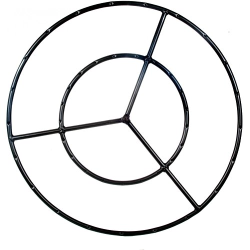 Alpine Flame 36-inch Round Double Natural Gas Fire Pit Ring Burner
