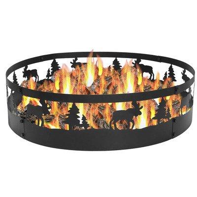 Sunnydaze Wild Moose Campfire Ring 36 Inch Diameter