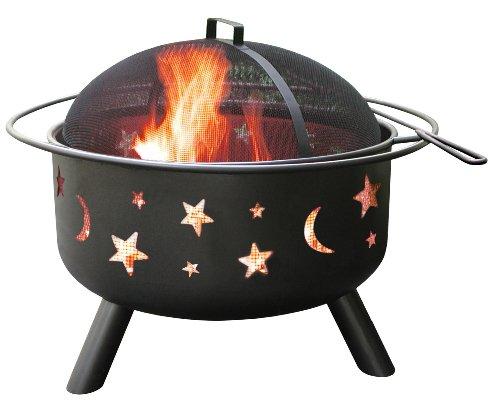 Landmann 28345 Big Sky Stars And Moons Firepit Black