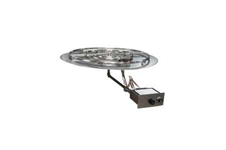 FPPK36 36in Flat Pan Manual SparkFlame Sensing Firepit Insert