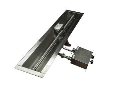 FPPK36-TRGH 36in Linear Trough Manual SparkFlame Sensing Firepit Insert