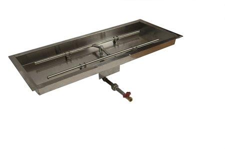 MLFPK36X14-H 36X14in Rectangular Bowl Pan Match Lit Firepit Insert