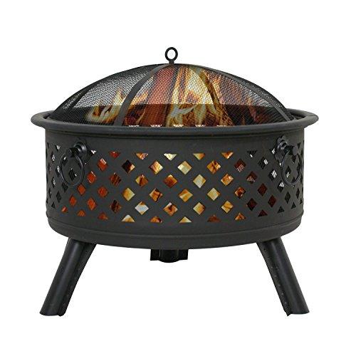 F2C Outdoor Heavy Steel Fire Pit Wood Burning Fireplace Patio Backyard Heater Steel Firepit Bowl WWaterproof Dust Cover Model01