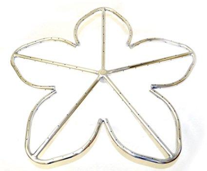 HPC 24 Inch Penta Stainless Steel Firepit Burner Ring - NG Model
