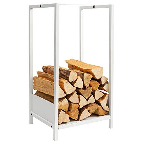 DOEWORKS Firewood Log Rack Heavy Duty Firewood Holder for IndoorOutdoor Fireplace