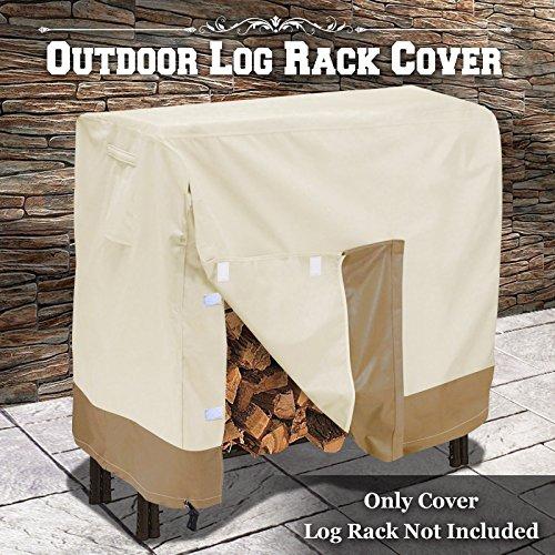 BenefitUSA Premium Veranda Log Rack Cover Firewood Rack Waterproof 4 Feet