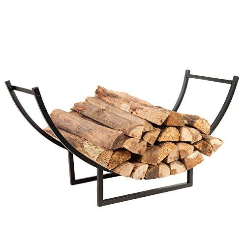 Hio Heavy Duty Indooroutdoor Firewood Racks 40 Inch Log Rack Half Round