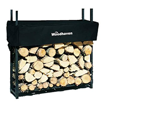 The Woodhaven 3 Foot Firewood Log Rack With Cover