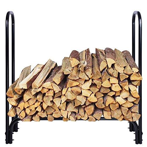 Outdoor Firewood Log Holder Carrier Storage Rack 4ft