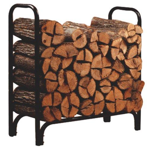Panacea 15203 Deluxe Outdoor Log Rack Black 4-feet