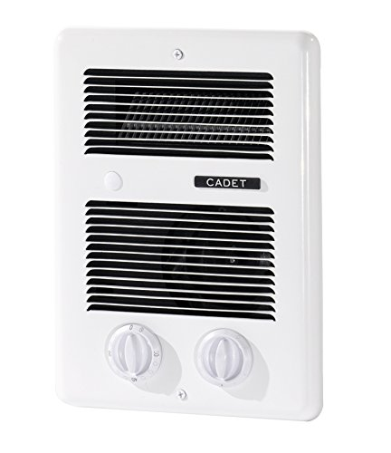 Cadet Com-Pak Bath 1000W 120V240V best bathroom electric wall heater with thermostat and timer white