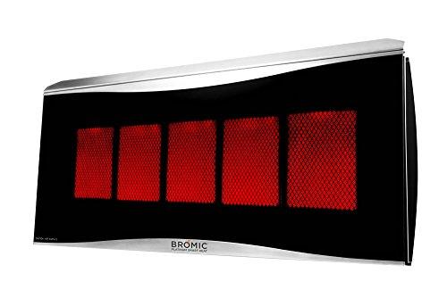 Bromic Heating Platinum 500 Smart-Heat Gas 5 Burner Radiant Infrared Patio Heater Natural Gas 39800 BTU