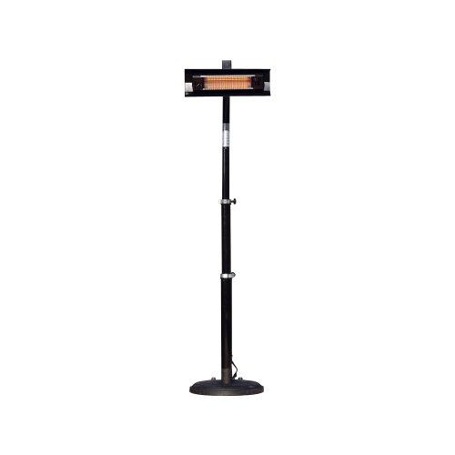 Fire Sense Telescoping Infrared IndoorOutdoor Patio Heater Black