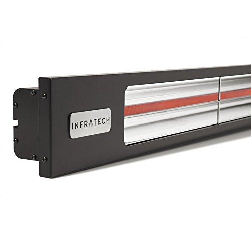 Infratech Slimline Series 63 12-inch 3000w Single Element Electric Infrared Patio Heater - 240v - Matte Black - Sl3024bl