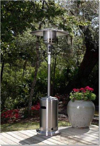 Fire Sense 46000 BTUXL-Series Stainless Steel Patio Heater with Wheels Propane