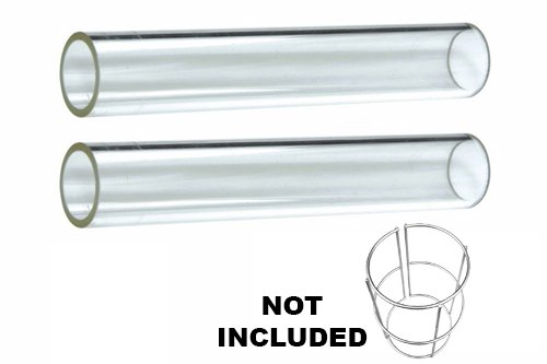 2-pc Glass Tube Replacement For 4-sided Pyramid Patio Heater