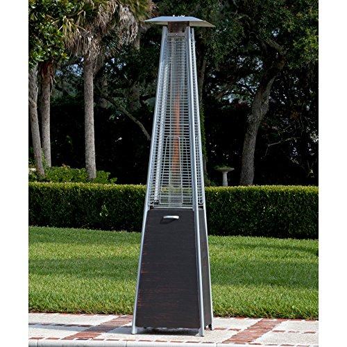 Fire Sense 62263 Coronado Brushed Pyramid Flame Patio Heater Bronze