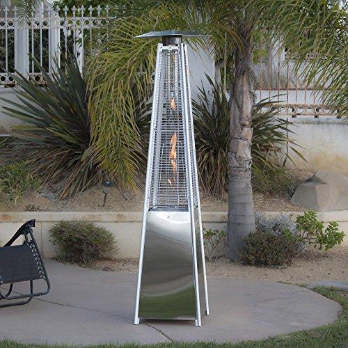 Kissmoji 42000 BTU Pyramid Flame Stainless Steel Warmth Gazebo Propane Heater Patio NEW