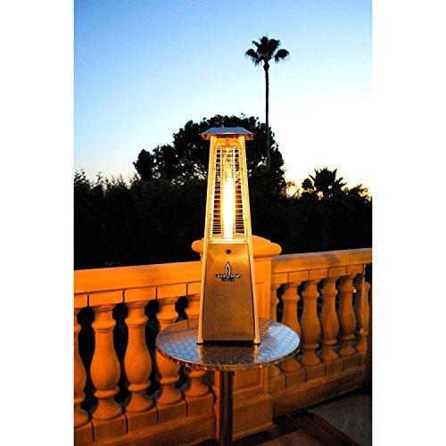 Lava Heat Italia Outdoor Patio Propane Tabletop Gas Heater With 27000 Btu Output Specially Designed Borosilicate