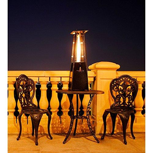 Lava Heat Italia Outdoor Patio Propane Tabletop Propane Heater With 27000 Btu Output Specially Designed Borosilicate