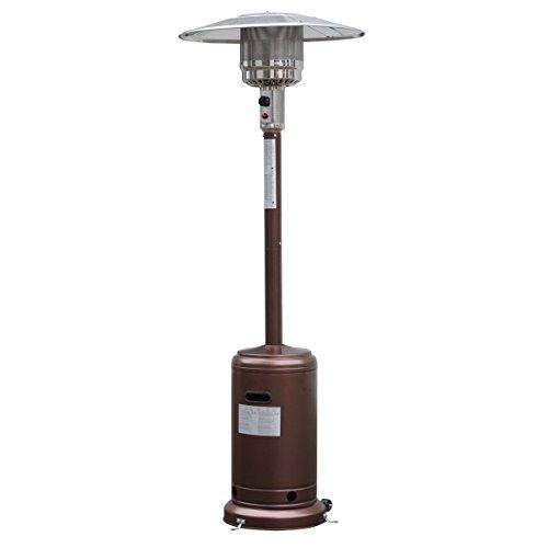 Garden Outdoor Patio Heater Propane Standing LP Gas Steel waccessories BRONZE