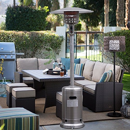 Garden Outdoor Patio Heater Propane Standing Stainless Steel waccessories New -MPGH4498 349Y49HBRG9138892