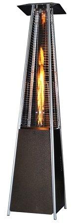 SUNHEAT Contemporary Square Glass Tube Propane Patio Heater