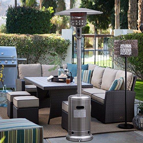 Garden Outdoor Patio Heater Propane Standing Stainless Steel Waccessories New