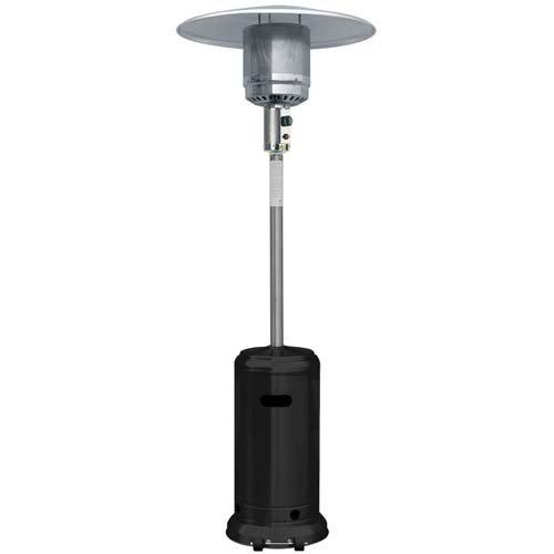 Garden Sun Gs4400bk Floor Standing 41000 Btu Propane Powered Patio Heater With Push Button Ignition Black