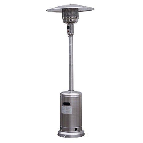 KISSEMOJI 41000 BTU Garden Outdoor Patio Heater Propane Standing Stainless Steel WAccessories
