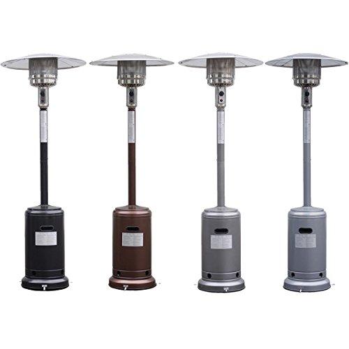 Patio Heater Black Outdoor Garden Propane Standing Lp Gas Steel With Accessories