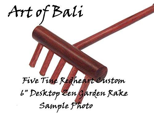 Art of Bali Custom Redheart Desktop Zen Garden Rake