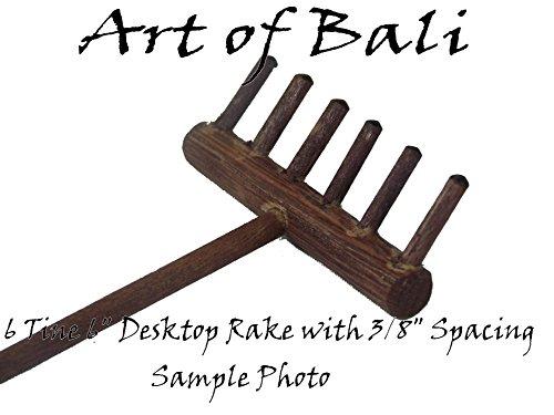 Art of Bali Zen Garden Rake Six Tine Desktop Rake - Zen Gardens