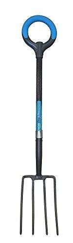 Radius Garden 25301 Pro-lite Ergonomic Carbon Steel Digging Fork Blue