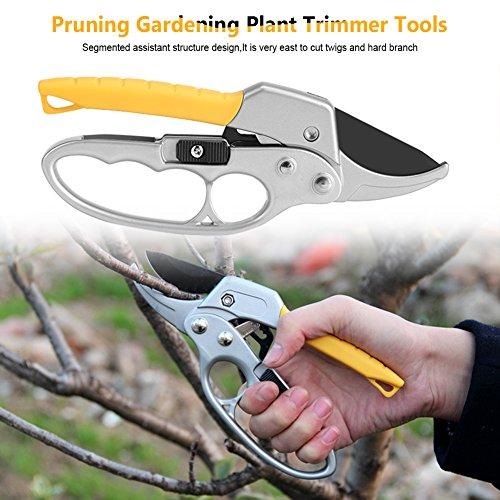 Nannday Pruning Shears Cutter Gardening Plant Branch Pruner Trimmer High Carbon Steel Scissor Tools