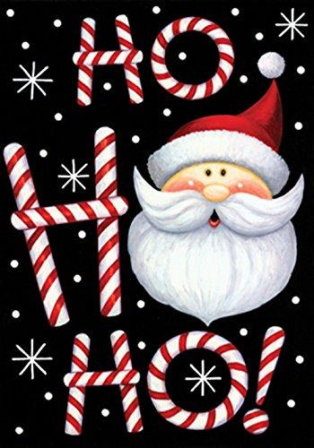 Toland - Ho Ho Ho Santa - Decorative Double Sided Christmas Winter Holiday Usa-produced Garden Flag
