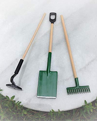 Dollhouse Accessories Shovel Hoe Rake Tool Set Miniature Magic Scene Supplies Your Fairy Garden - Outdoor House Decor