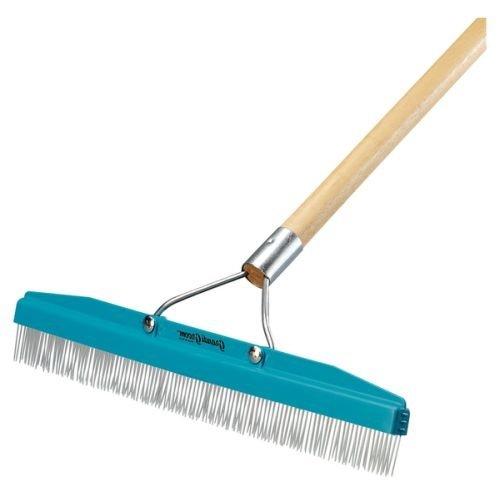 CRW AB24 Grandi Groom Carpet Rake 18-Inch Head 54-Inch Handle