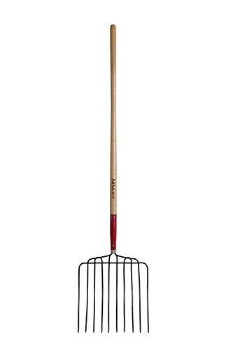 Kylin 15 10 Tine Tempered Manure Fork Bedding Fork Enslige Frok Cotton Seed Fork - With 48 Ash Handle-68711a