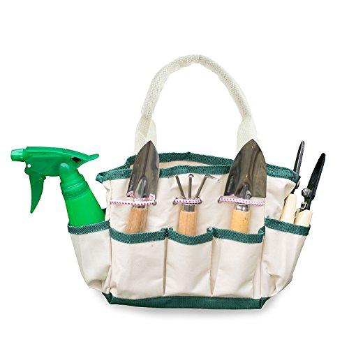 Gardenhome Indoor Small Or Kids Garden 7-piece Stainless Steel Garden Tools - 1 Garden Tool Bag 3 Tools 2 Scissors