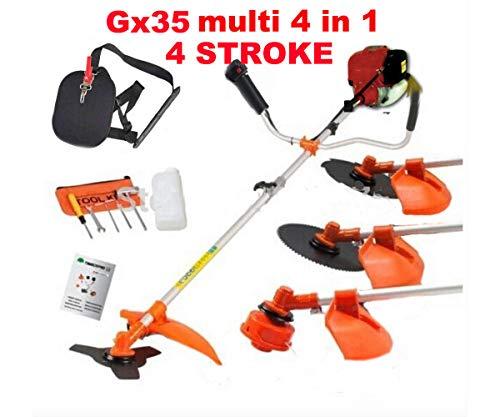 CHIKURA Gx35 Brush Cutter 4 in 1 Lawn Mower Outdoor Garden Tool Pruner Hedge Trimmer Saw