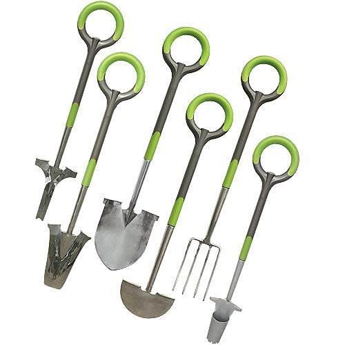 Radius Garden Tool Set - Edger Transplanter Shovel Fork Weeder and Bulb Auger