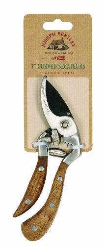 Joseph Bentley Traditional Garden Tools Carbon Steel Shaped Secateurs 7-Inch
