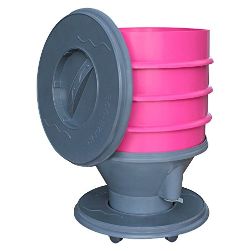 Exaco 610016 Eco Worm Composter On Wheels 8-gallon Pink