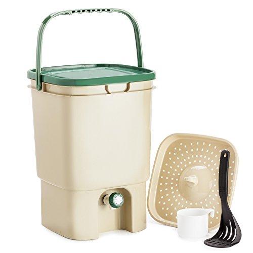 Chefs Star 5 Gallon Air Tight Indoor Bokashi Bucket Kitchen Compost Kit