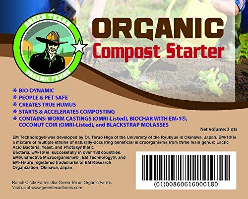 All-natural Compost Starter 3 Quarts