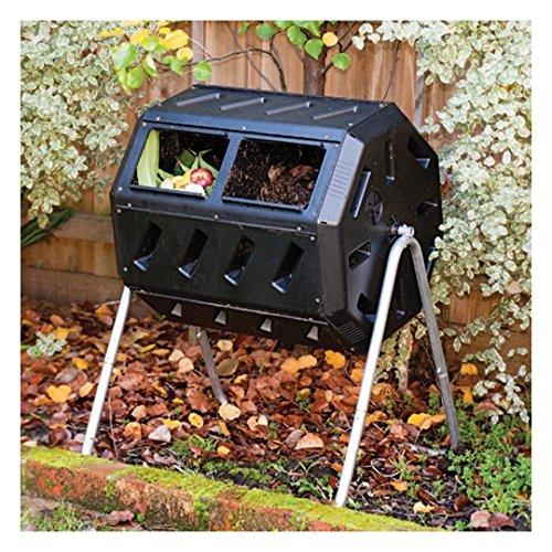 Compost Tumbler Garden Waste Bin Grass Food Trash Barrel Fertilizer Lawn Leaves