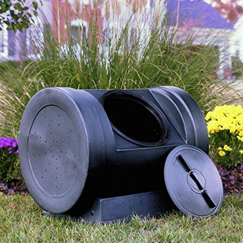 Compost Tumbler Garden Waste Bin Grass Trash Barrel Fertilizer Leaves 90 Gallon hj7-545mki94 G1579205