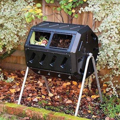 Yimby Composting Bins Tumbler Composter Yard Waste Soil Make Compost 37 Gallon hj7-545mki94 G1544623