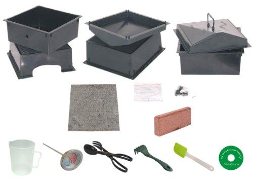 5-tray Worm Compost Bin Ihut-dark Green